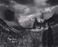 ANSEL ADAMS (American 1902-1984) Clearing Winter Storm, Yosemite National Park, California, 1944 Silver gelatin print