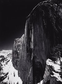 ANSEL ADAMS (American 1902-1984) Monolith, The Face of Half Dome, Yosemite National Park, California, 1927 Silver ge