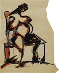Post-War & Contemporary:Abstract Expressionism, WILLEM de KOONING (American 1904-1997). Female Nude.Watercolor and ink on paper. 14in. x 10.5in.. Signed lower left:...
