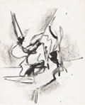 Post-War & Contemporary:Abstract Expressionism, WILLEM de KOONING (American 1904-1997). Untitled. Ink andgouache on paper. 13.5in. x 11in.. Signed lower right:Bill...