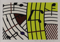 ROY LICHTENSTEIN (American 1923-1997) Musical Notes, 1995 Lithograph on paper 13in. x 19.25in. Signed numbered and d