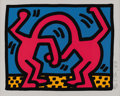 Post-War & Contemporary:Pop, KEITH HARING (American 1958-1990). Twins (from Pop Shop II),1988. Lithograph on paper. 12in. x 15in.. Signed, numbered ...