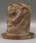 American:Modern, WILLIAM ZORACH (American 1887 -1966). Devotion. Terracotta.6.5in. x 6in. x 6in.. Signed on back of base. ...