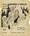 Illustration:Books, AMERICAN ILLUSTRATOR (20th Century) . Brothers of theSenecas, c. 1935 . Ink on illustration board . 15.75in. x13.5in.... (Total: 2 Items)