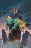 Illustration:Books, AMERICAN ILLUSTRATOR (20th Century) . The Brides of Dracula,1960 . Gouache on illustration board . 26in. x 18.5in.. O...