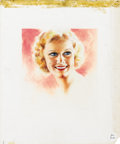 Illustration:Magazine, AMERICAN ILLUSTRATOR (20th Century) . Jean Harlow . Pastelon illustration board . 18in. x 15in.. Original magazine illu...