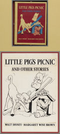 Illustration:Books, AMERICAN ILLUSTRATOR (20th Century) . Little Pig's Picnic,1939 . Ink on illustration board . 15.5in. x 11in.. Origina...