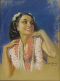Illustration:Magazine, BRADSHAW CRANDELL (American 1896-1966) . Untitled, 1940 .Pastel on board . 23in. x 18in. . Signed lower right. This w...