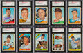 Autographs:Sports Cards, Signed 1965 and 1966 Topps Baseball Card Collection (400+)....