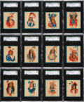 "Non-Sport Cards:Sets, 1934 V254 ""Papoose Gum Series"" Complete Set (50) - #1 on the SGC Set Registry. ..."
