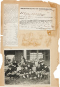 Football Collectibles:Tickets, 1895 Yale vs. Princeton Ticket Application....