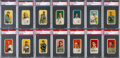 Baseball Cards:Sets, 1909-11 T206 White Borders Partial Set (122 Different) With Cobb, Johnson and Lajoie. ...
