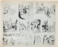 animation art:Model Sheet, Pinocchio General Atmosphere Sketches Model Sheet PrintAnimation Art (Walt Disney, 1940)....