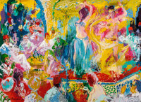 LEROY NEIMAN (American, 1921-2012) Dancers in the Koutoubia Palace, Tangier, 1969 Oil on masonite