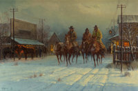 G. (GERALD HARVEY JONES) HARVEY (American, b. 1933) Headin' Home for Christmas, 1982 Oil on canvas