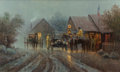 Paintings, G. (GERALD HARVEY JONES) HARVEY (American, b. 1933). The Country Post Office, 1982. Oil on canvas. 24 x 40 inches (61.0 ...