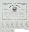 "Miscellaneous:Ephemera, Confederate States of America Fifty Dollar Bond. One page, 13.25"" x14.5"", Richmond, March 10, 1863, with twenty-one two dol..."