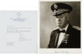 "Autographs:Military Figures, General Omar Bradley Photograph Signed. 8"" x 10"". The general is seen in a chest up portrait in a dress uniform wearing his ..."