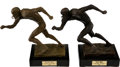 Football Collectibles:Others, 1968 and 1969 Ralph Neely NEA-CBS All-NFL/Pro Team Trophies....
