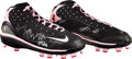 Autographs:Others, 2008 Ken Griffey, Jr. Mother's Day Game Issued Cleats Signed by Cincinnati Reds Team....