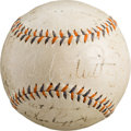 Autographs:Baseballs, 1933 New York Yankees Team Signed Baseball....