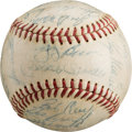 Autographs:Baseballs, 1961 New York Yankees Team Signed Baseball with PlayerProvenance....