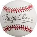 Autographs:Baseballs, 2000's Buzz Aldrin Single Signed Baseball....