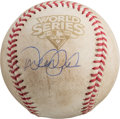 Autographs:Baseballs, 2009 Derek Jeter Signed Game Used World Series Game FiveBaseball....