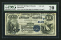 National Bank Notes:Colorado, Colorado Springs, CO - $10 1882 Date Back Fr. 542 The First NB Ch.# (W)2179. ...