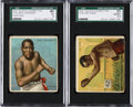Boxing Cards:General, Very Rare 1910 T218 Tolstoi Jack Johnson & Gans SGC Pair (2). ...