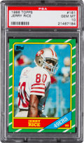 Football Cards:Singles (1970-Now), 1986 Topps Jerry Rice #161 PSA Gem Mint 10! ...
