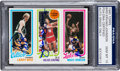 Autographs:Sports Cards, 1980 Topps Bird/Erving/Johnson PSA/DNA Gem MT 10 - Autographed by All Three! ...