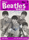 Music Memorabilia:Autographs and Signed Items, Beatles Signed The Beatles Book Monthly No. 1, August1963...