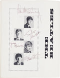 Music Memorabilia:Autographs and Signed Items, Beatles and Roy Orbison Signed Tour Program, With A Group Of Tour Tickets and Original Handbill, 1963... (Total: 17 Items)