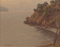 Fine Art - Painting, American:Modern  (1900 1949)  , GRANVILLE SEYMOUR REDMOND (American, 1871-1935). Study of CastlePoint, Tiburon. Oil on canvasboard. 8 x 10 inches (20.3...