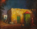 Paintings, WILL SPARKS (American, 1862-1937). Courtyard Well, New Mexico, circa 1900. Oil on panel. 8 x 10 inches (20.3 x 25.4 cm)...