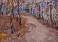 Fine Art - Painting, American:Modern  (1900 1949)  , SELDEN CONNOR GILE (American, 1877-1947). The Violet Road, OldBelvedere. Oil on canvas laid on board. 5-3/4 x 7-3/4 inc...