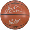 Basketball Collectibles:Balls, Magic Johnson and Larry Bird Multi Signed Basketball....