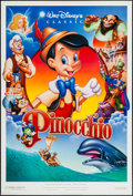 "Movie Posters:Animation, Pinocchio & Other Lot (Buena Vista, R-1990s). One Sheets (2)(27"" X 40"" & 27"" X 41"") DS. Animation.. ... (Total: 2 Items)"
