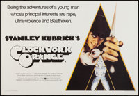 "A Clockwork Orange (Warner Brothers, 1971). Trimmed British Quad (27.25"" X 39.75""). Science Fiction"