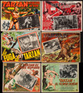 Movie Posters:Adventure, Tarzan Finds a Son & Others Lot (MGM, R-1950s). Mexican LobbyCards (9)(Various Sizes). Adventure.. ... (Total: 9 Items)