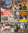 """Movie Posters:Adventure, The White Gorilla & Others Lot (Louis Weiss, 1945). MexicanLobby Cards (13) (approx. 13"""" X 16.5""""). Adventure.. ... (Total: 13Items)"""