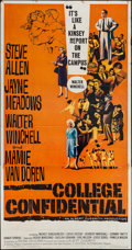 """Movie Posters:Drama, College Confidential & Other Lot (Universal International, 1960). Three Sheet (41"""" X 79""""), Lobby Card Set of 8 (11"""" X 14""""), ... (Total: 10 Items)"""