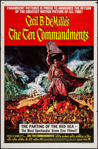 "The Ten Commandments & Other Lot (Paramount, 1956). One Sheet (27"" X 41"") & Banner (24"" X 82""..."