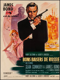 "From Russia with Love (United Artists, 1964). French Grande (46"" X 63""). James Bond"