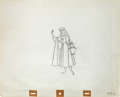 Animation Art:Production Drawing, Sleeping Beauty Briar Rose with Basket Production DrawingAnimation Art (Walt Disney, 1959)....