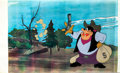 Animation Art:Production Cel, The Lone Chip Monks Outlaw Pete Production Cel SetupAnimation Art (Walt Disney, 1954)....