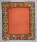 American Indian Art:Beadwork and Quillwork, AN IROQUOIS BEADED CLOTH PICTURE FRAME. c. 1900...