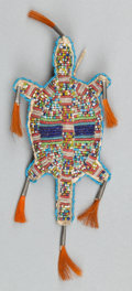 American Indian Art:Beadwork and Quillwork, A SIOUX BEADED HIDE FETISH. c. 1890...