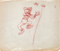 Animation Art:Production Drawing, Goofy Production Drawing Animation Art (Walt Disney, 1930s)....